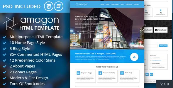 Amagon - Bootstrap Flat Multipurpose HTML5 Template