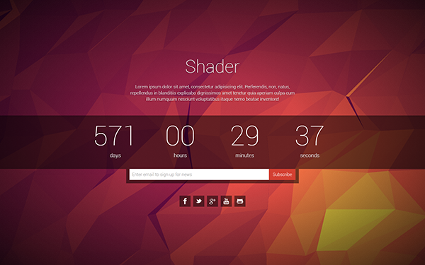 Shader coming soon page bootstrap stage shader pronofoot35fo Image collections