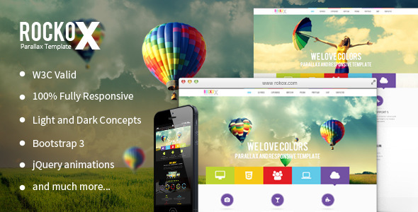 RockoX – One Page Parallax