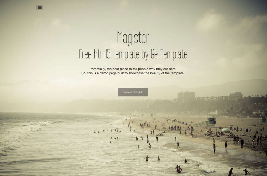 Free Full Site Themes - Magister - <p>One Page of Magic</p>